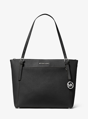 MICHAEL Michael Kors MK Voyager Large Saffiano Leather Top-Zip Tote Bag - Black - Michael Kors