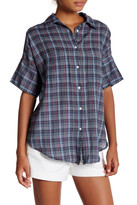 Michael Stars Tartan Short Sleeve Shirt