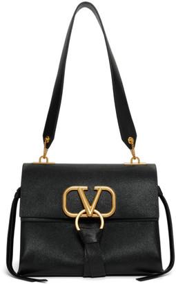 Valentino Black Garavani Small VRing Shoulder Bag