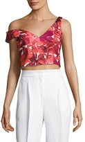 ABS by Allen Schwartz Floral Printed Crop Top