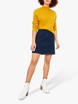 Oasis Denim Mini Skirt, Dark Wash