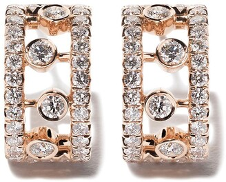 De Beers 18kt rose gold Dewdrop diamond earrings