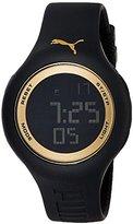 Puma 'PU91080 Drop' Quartz Plastic and Polyurethane Casual Watch, Color:Black (Model: PU910801044)