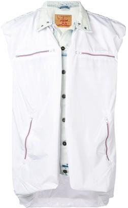 Y/Project Sleeveless Layered Denim Jacket