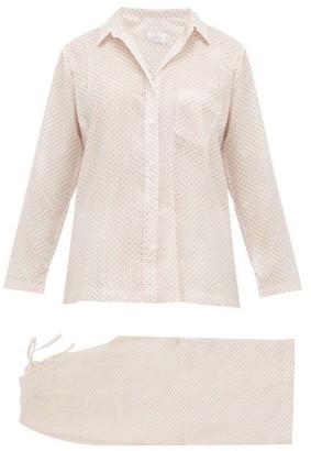 POUR LES FEMMES Star-print Cotton Pyjamas - White Print