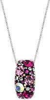 Pink & Black Round-Cut Pendant Necklace With Swarovski® Crystals