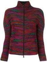 Issey Miyake zipped high neck cardigan