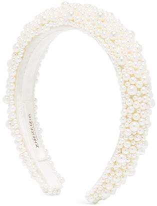 Jennifer Behr Bailey pearl-embellished headband