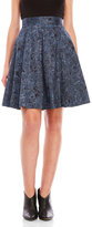 amanda & chelsea Blue Printed A-Line Skirt