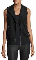 Alo Yoga Flat Iron Sherpa-Lined Athletic Vest, Black