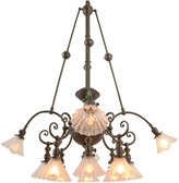 Rejuvenation Rare and Remarkable 12-Light Commercial Chandelier