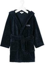 Boss Kids hooded belted robe
