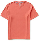 Age of Wisdom Age Of Wisdom Solid Textured Short-Sleeve V-Neck Tee