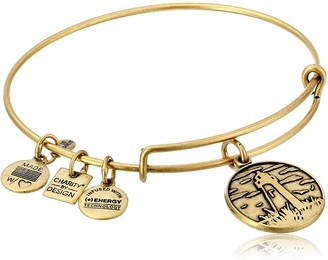 Alex and Ani Charity By Design Lighthouse - Leukemia and Lymphoma Society Rafaelian Gold Bangle Bracelet 2.4""