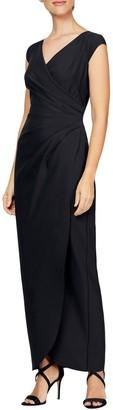 Alex Evenings Surplice Wrap Style Gown