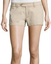 Arizona Cabo Mid-Rise Twill Shorty Shorts - Juniors