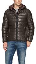 Tommy Hilfiger Men's Lamb Touch Quilted Hooded Puffer Jacket