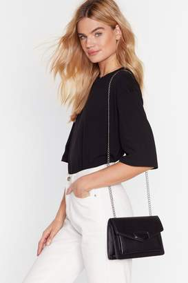 Nasty Gal Womens Chain strap envelope fold corssbody bag - black - One Size