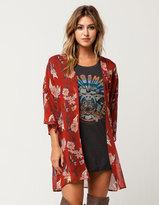 Socialite Floral Womens Kimono