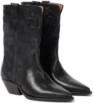 Isabel Marant Duoni suede and leather cowboy boots