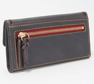 Dooney & Bourke Florentine Leather Continental Clutch