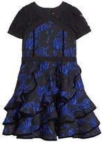 Tadashi Shoji Brocade Ruffle Dress
