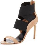 Delman Jean Stretch-Wrap Sandal, Sahara/Black