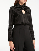 Somerset by Alice Temperley Satin Wrap Neck Blouse