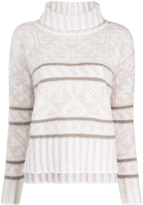 Lorena Antoniazzi High Neck Stripe Jumper