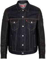 Junya Watanabe Man Indigo Denim And Faux Leather Jacket