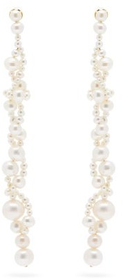 COMPLETEDWORKS Running For The Hills Pearl & Vermeil Earrings - Pearl