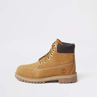 River Island Boys Timberland brown lace-up boots