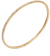 Maiyet 18K Yellow Gold & 3.50 Total Ct. Champagne Diamond Oval Bangle Bracelet