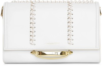 Alexander McQueen The Story whipstitch leather shoulder bag