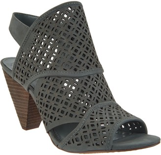 Vince Camuto Nubuck Perforated Heeled Sandals - Ekanya