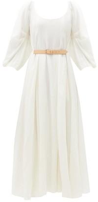 Gabriela Hearst Willy Scoop-back Wool-blend Dress - Ivory