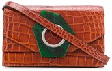 Ganni Crocodile-Effect Shoulder Bag