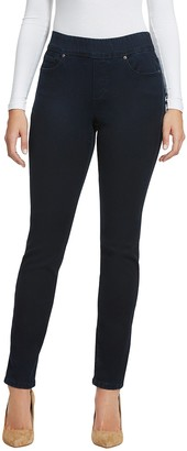 Gloria Vanderbilt Women's Avery Slim Pull on Jean Rinse 6