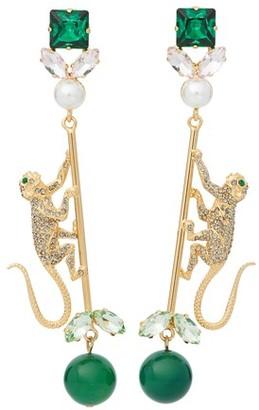 Erdem Monkey Drop earrings