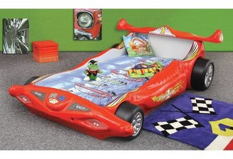 Zoomie Kids Polak Toddler Car Bed with Mattress