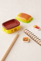 Urban Outfitters Burger Box Pencil Sharpener + Eraser Set