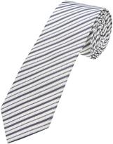Oxford Silk Tie Pinstripe Grey