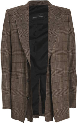 Proenza Schouler Plaid Raw Edge Blazer