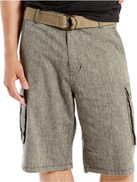 Levi's Men's Black Chambray Snap Cargo Shorts