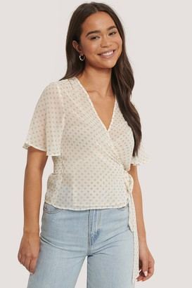NA-KD Wrapped Shirred Blouse