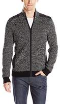 Kenneth Cole Reaction Men's Full Zip Marled Sweater