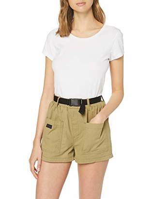 New Look Women's Seatbelt Utility Relaxed Shorts,(Manufacturer Size:)