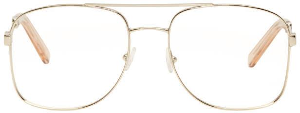 Chloé Gold Aviator Glasses