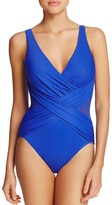 Miraclesuit Solid Crossover One Piece Swimsuit