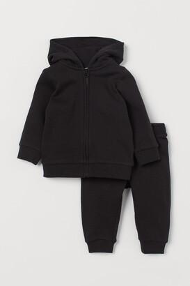 H&M 2-piece Sweatshirt Set - Black